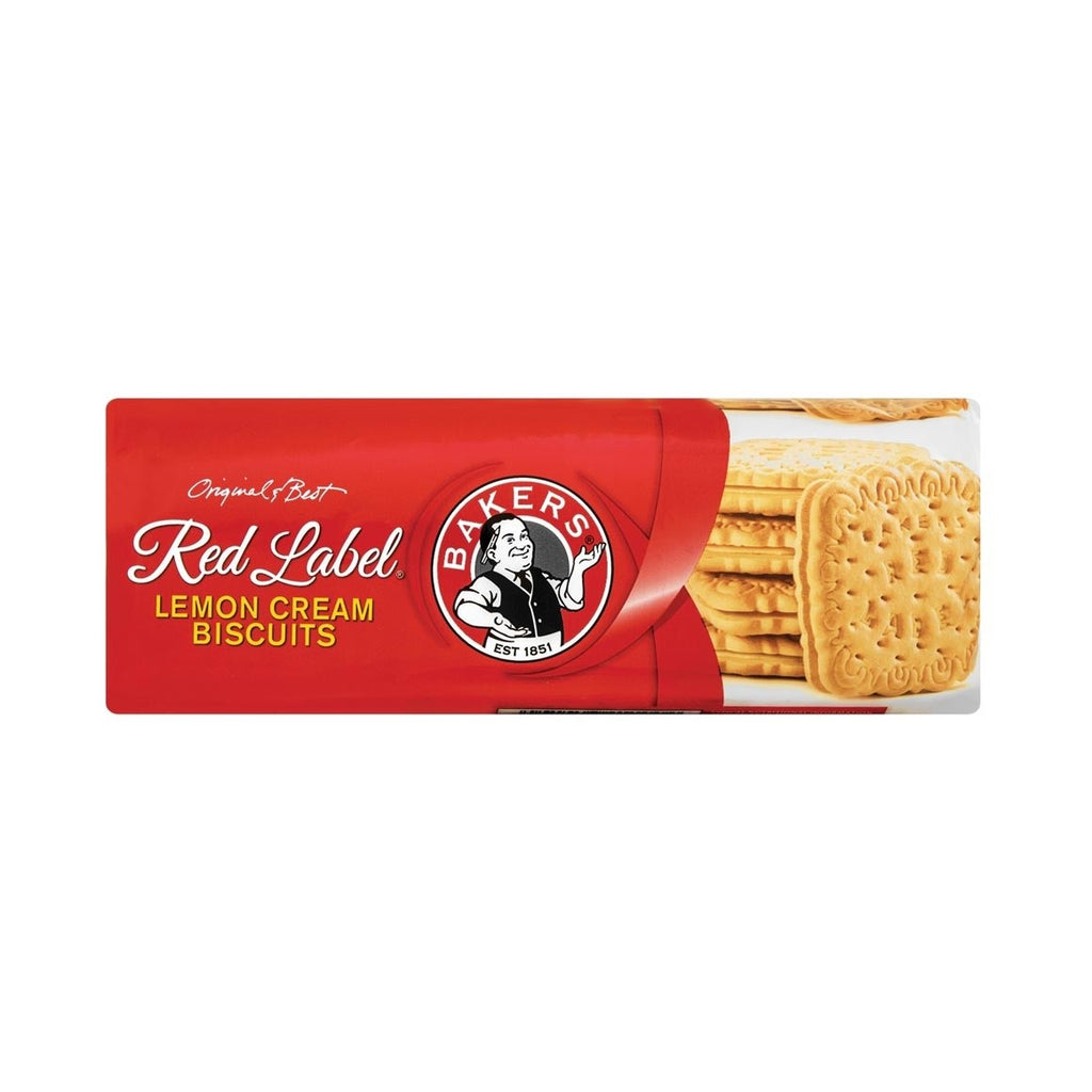 Bakers Original Red Label Lemon Cream Biscuits 200g