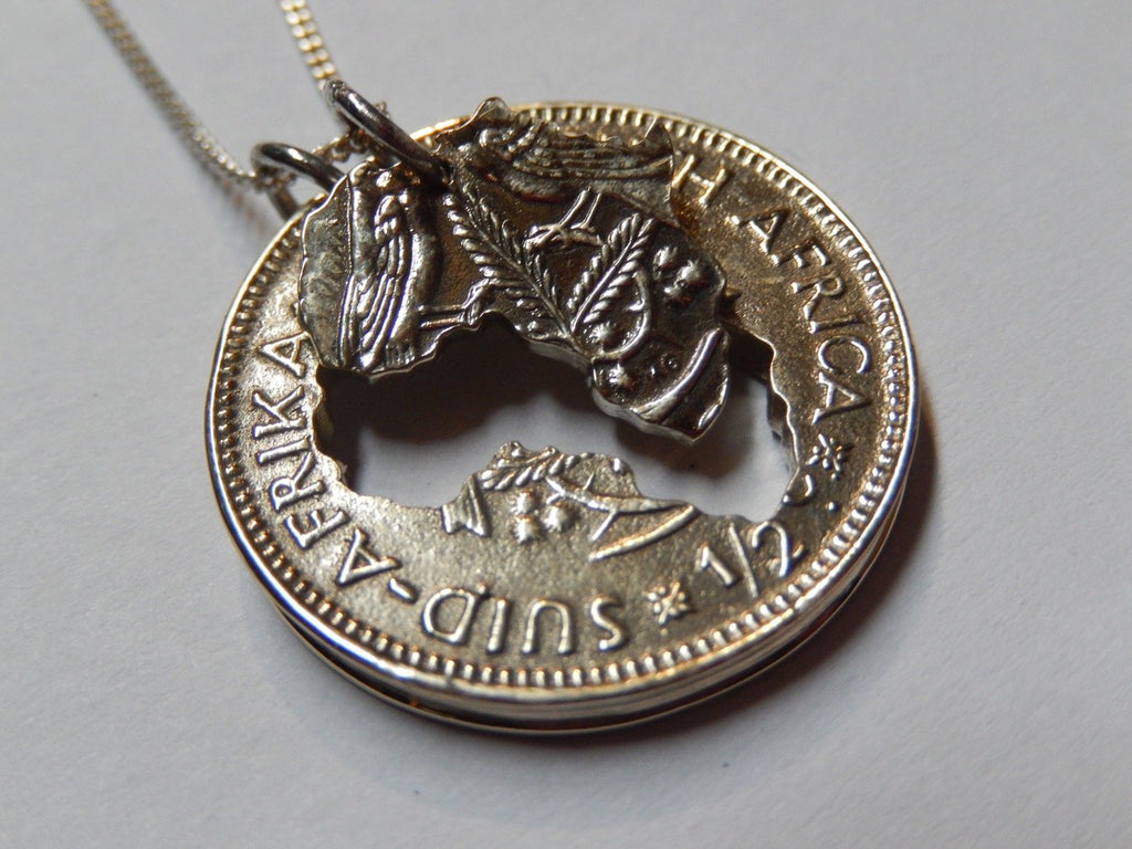 One Cent Large Double Africa - Brass Necklace