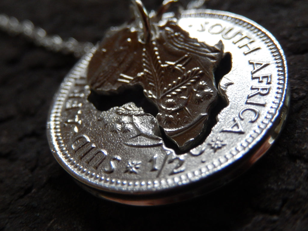 One Cent Large Double Africa - Sterling Silver