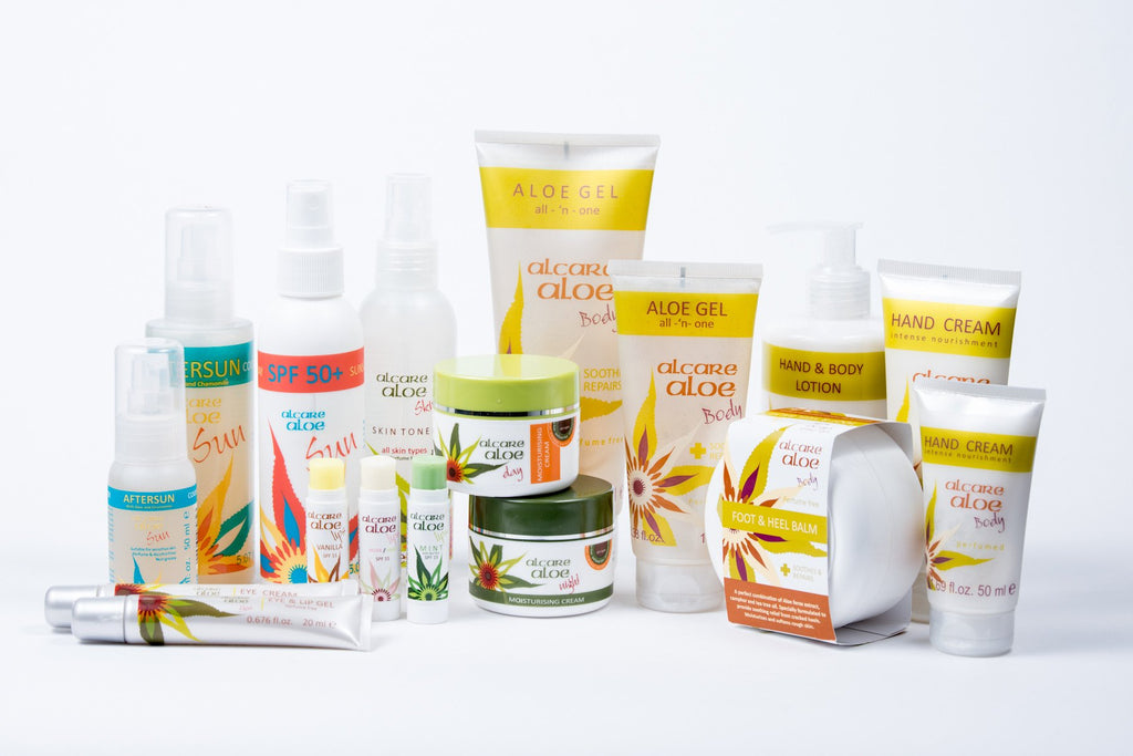 Aloe Skin Care Product Range