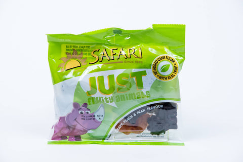 Safari Just Fruity Animals Grape, Peach and Pear Flavour 125g