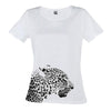 T-Shirt Black and White Side Leopard