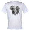 T-Shirt Black and White Centre Elephant