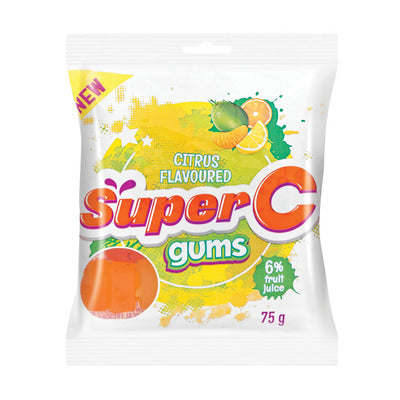 Super C Candy Gums Citrus 75gr