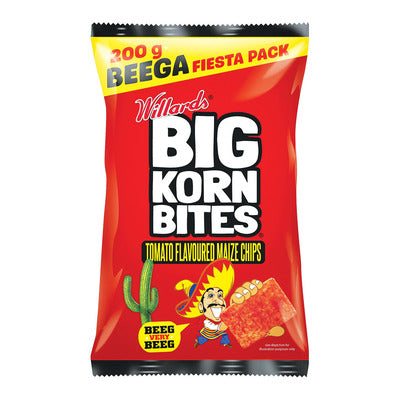 Willards Big Korn Bites Tomato 200g