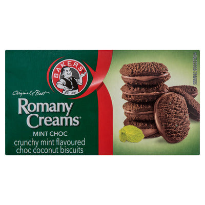 Bakers Mint Chocolate Romany Creams 200g