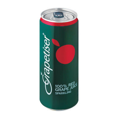 Grapetiser Red 100% Sparkling Red Grape Juice 330ml