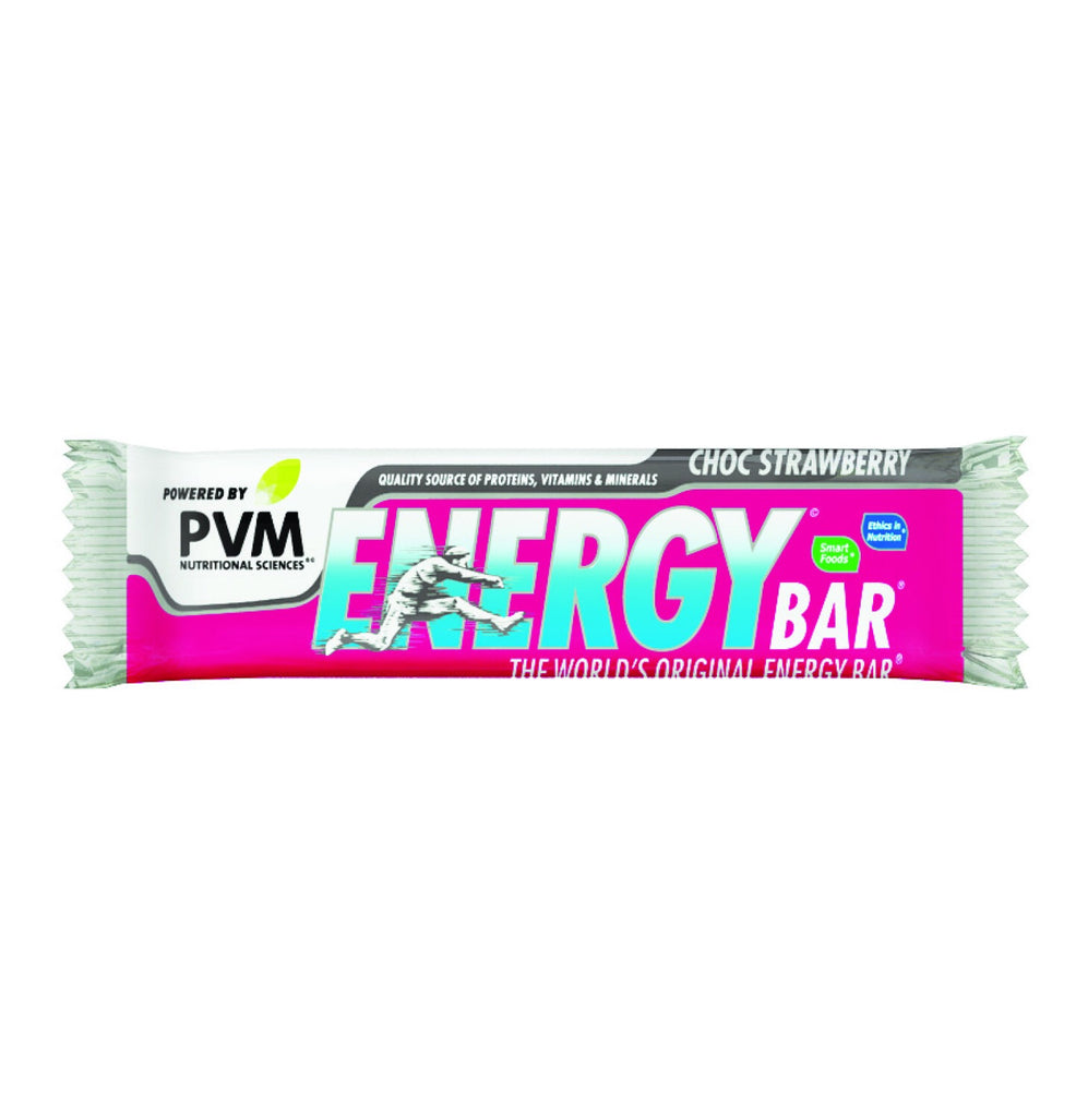 PVM Energy Bars Choc Strawberry (45g x 20)