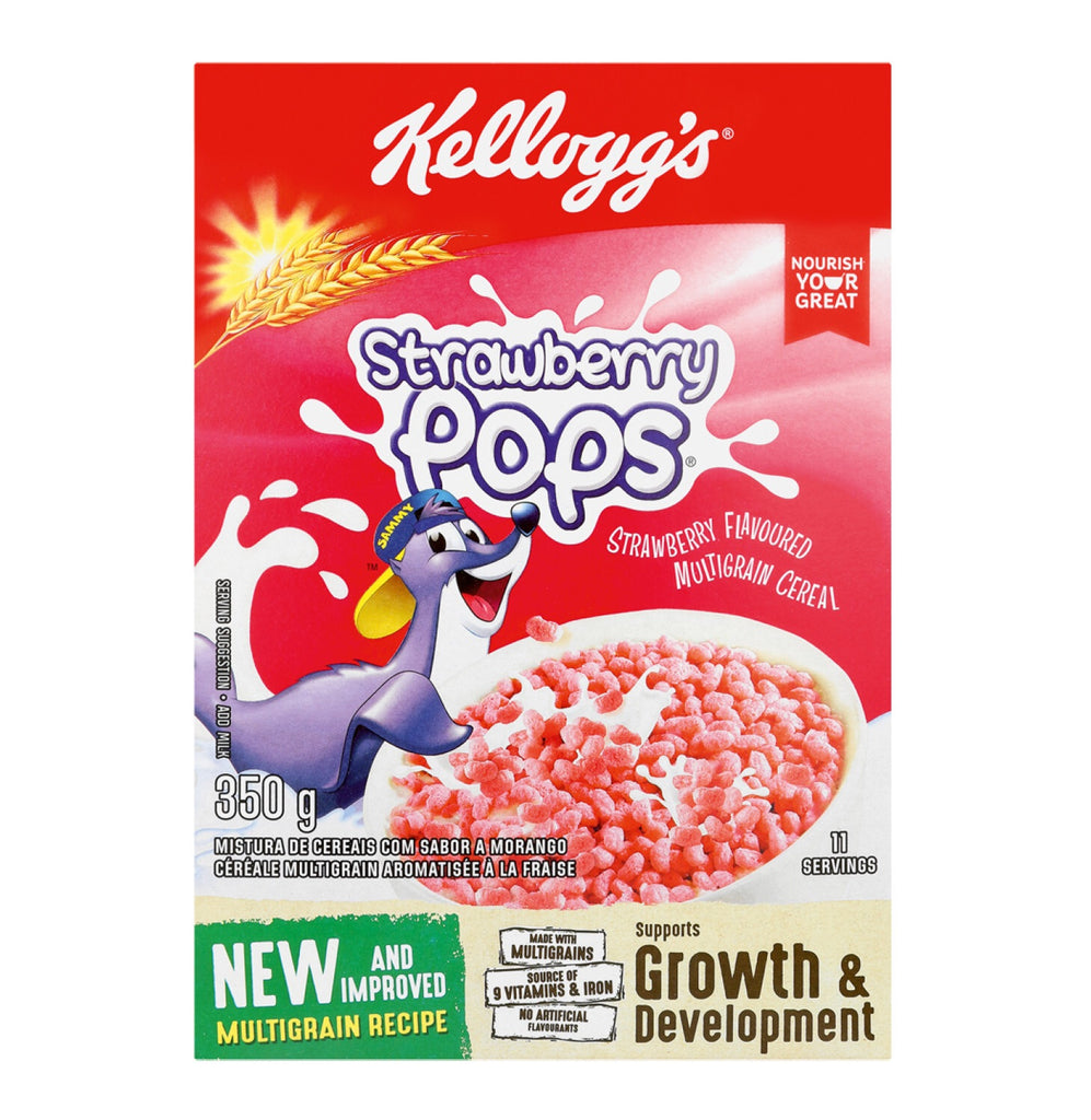 Kellogg's Strawberry Pops Cereal 350g