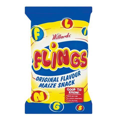 Willard's Flings Original Maize Snack 150g