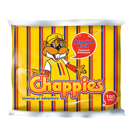 Chappies Bubblegum Assorted Fruit (1 x 100's)