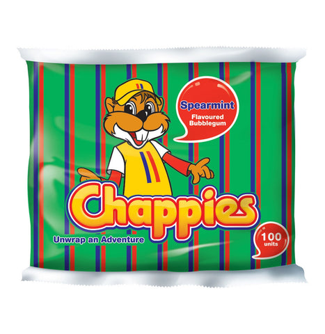 Chappies Bubblegum Spearmint (1 x 100's)
