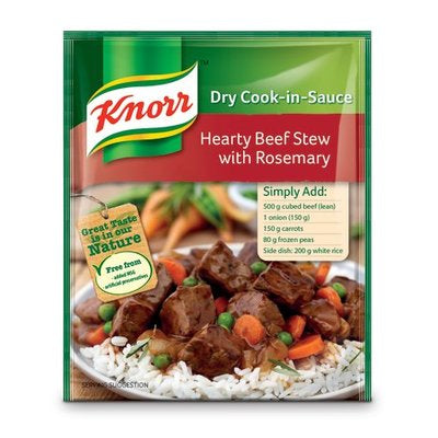Knorr Cook In Sauce Hearty Beef Stew with Rosemary 47g