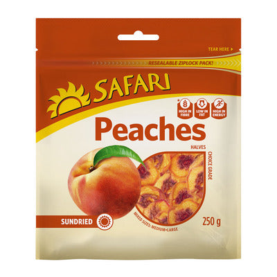 Safari  Sundried Cling Peaches 250g