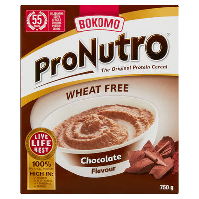 Bokomo Pronutro Chocolate Cereal Wheat Free 750g