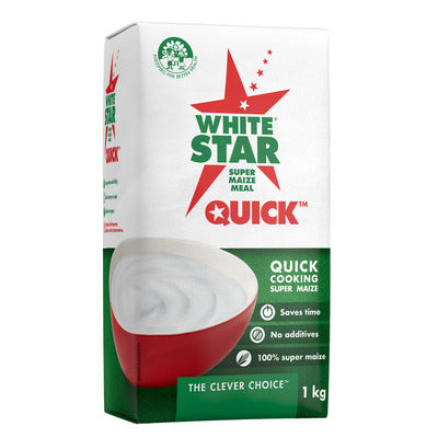 White Star Quick Maize Meal 1kg (Limit-2per customer)