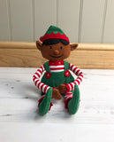 Dark-Skinned Christmas Boy Elf Toy & Magical Reward Kit