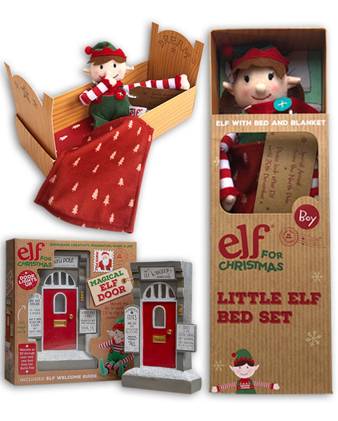 Little Elf & Bed Set and Christmas Elf Door Bundle
