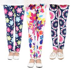 Baby Kids Childrens printing Flower Toddler Classic Leggings
