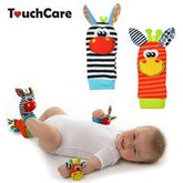 SOZZY  Baby Toy Baby Rattles Toys Animal Socks Wrist Strap With Rattle Baby Foot Socks Bug Wrist Strap