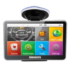 KMDRIVE 5 Inch Auto Car GPS Navigation Sat Nav 4GB latest Maps WinCE 6.0 FM support Multi-languages