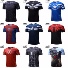 t-shirt Superman men fitness shirts men t shirts