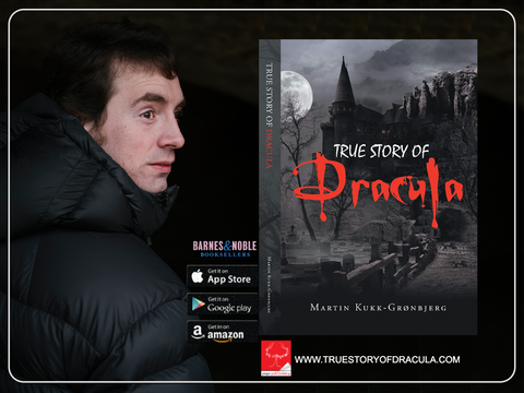 True Story of Dracula written by Martin Kukk-Grønbjerg in English which is Manuscript ready. You can see yourself going down a road when you come to a crossing. One road has a sign saying