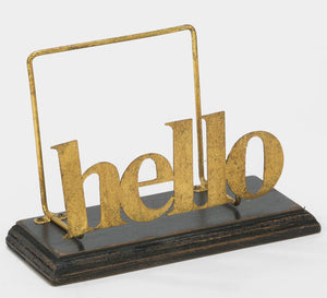 "Gold Foil ""hello"" File Folder"