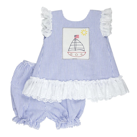 Sail Away Little Girls Tunic Set by Haute Baby