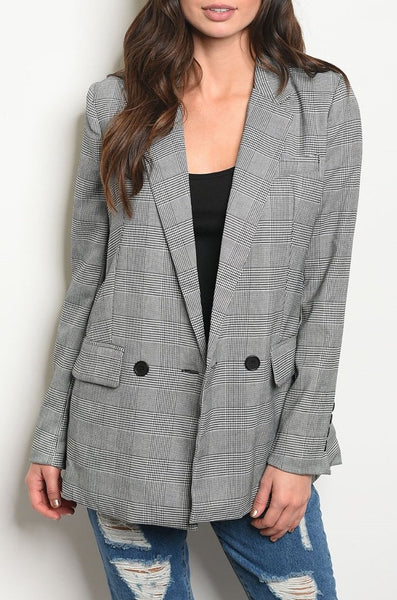 """Plaid to Meet You"" Jacket Blazer"