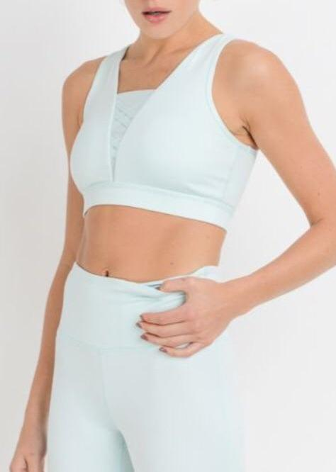 """Spring Fling"" Sports Bra Light Blue"