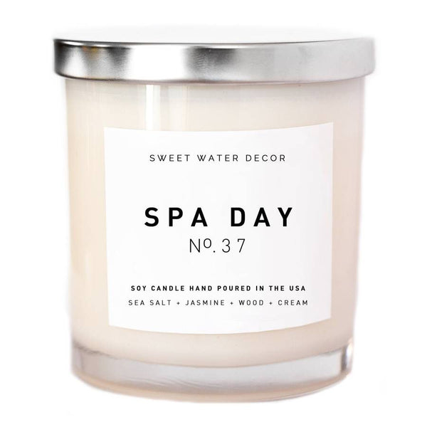 Spa Day Soy Candle | White Jar Candle