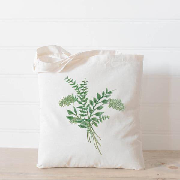 Eucalyptus Bunch Watercolor Tote Bag