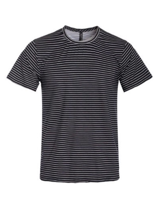 """Radford"" Black Striped T-Shirt"