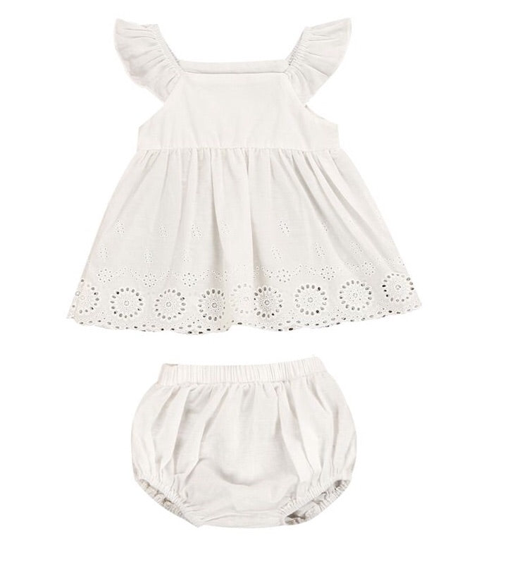 """Lovely in Lace"" Dress and Bloomer Set"