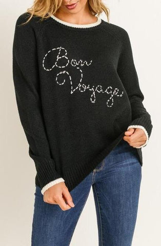 """Bon Voyage"" Sweater Top"