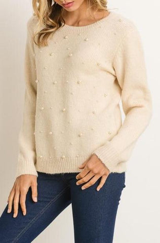 """Pretty in Pearls"" Sweater Top"