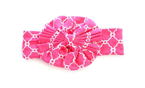 Bow Head Band - Pink