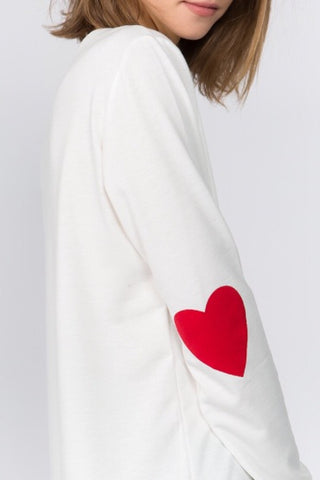 """Heart on My Sleeve"" Sweatshirt Top"