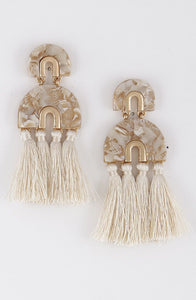 Ivory Tortoise Tassel Earrings