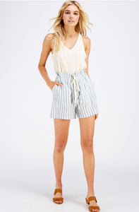 """Seaside Hammock"" Blue Striped Shorts"
