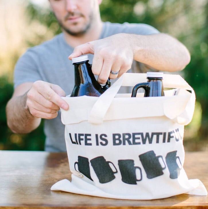 Life Is Brewtiful Beer Bag