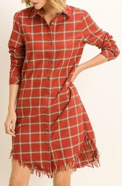 """Mountain Mama"" Flannel Tunic Dress"
