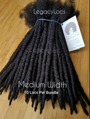 MEDIUM WIDTH Loc Extension Bundle(10 Locs Per Bundle)