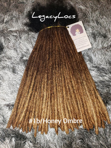 10 Locs Per Bundle(MICRO WIDTH)Color #1b Roots/Honey Ombre Dreadlock Bundles