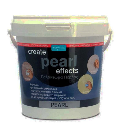 Polyvine Create Pearl Effects Τεχνοτροπία Γαλάκτωμα Πέρλας - Nikos G.Ntagiopoulos Paint Plus