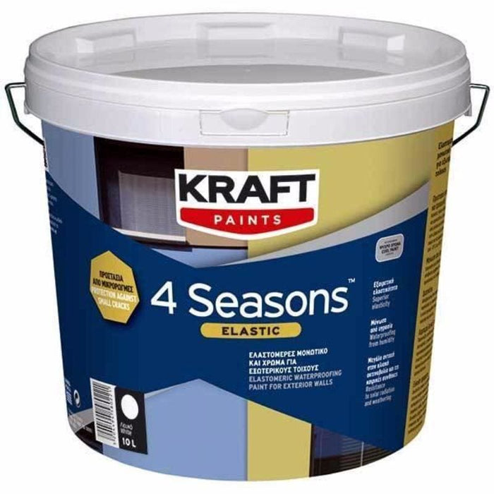 Kraft 4 Seasons Elastic Μονωτικό Λευκό - Nikos G.Ntagiopoulos Paint Plus