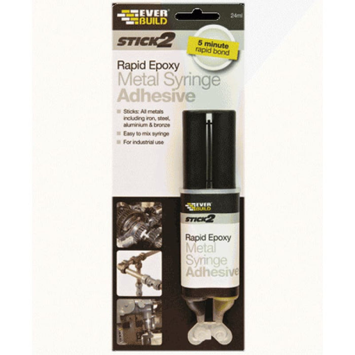 Everbuild Stick 2 Rapid Epoxy Metal Syringe Adhesive 2