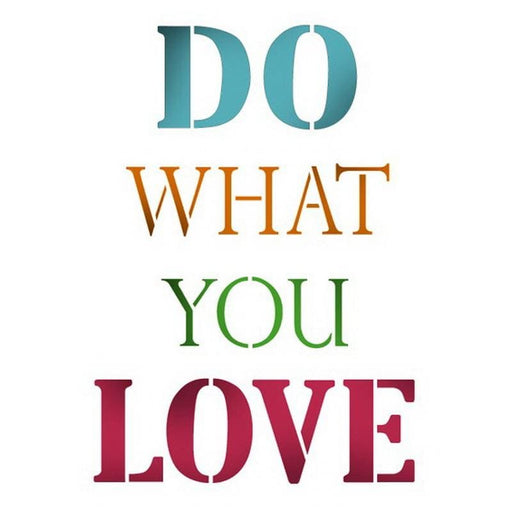 Stamperia Stencil G 21x29 7 cm Do What You Love