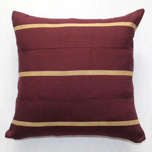 Driftwood & Maroon Pillow